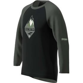 Zimtstern PureFlowz 3/4 Shirt Herren pirate black/gun metal/fog green